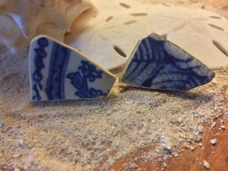 Sea Pottery Studs